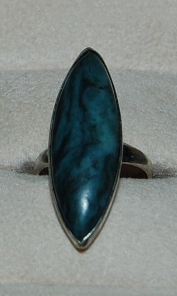 DOLLARS FOR DENISE sterling silver vintage agate ring