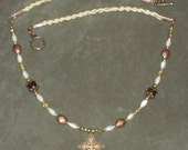 Copper and Gold Cross Necklace