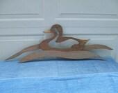 Wooden Wild Duck Decor