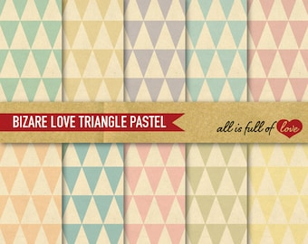 Triangles Paper digital paper kit Pastel Background Scrapbook Patterns printable background mothers day 12/15
