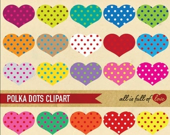 Heart CLIPART Heart Digital Graphics Scrapbooking elements valentines clip art printable heart shaped clipart Rainbow collage sheet