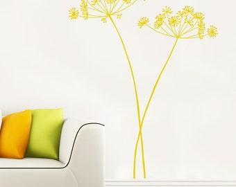 Algajola - Flower wall decal - Yellow ocher