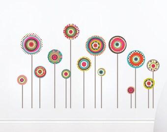 Jodhpur - Colorful pattern lollipop wall sticker