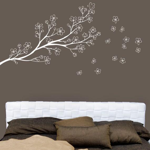 Ryukyu - Branch wall decal - white - Japanese inspiration