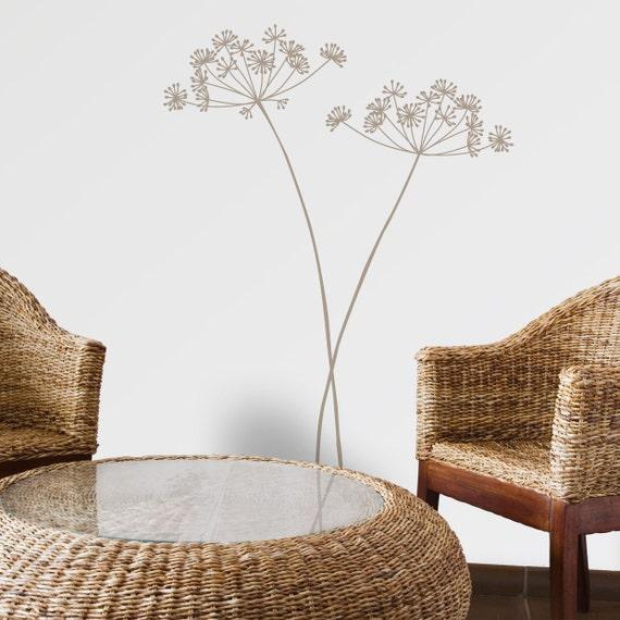 Solenzara - Flower wall decal - warm grey