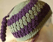 Ready to Ship: Cluster Beanie with Spiral Accent Women Men Crochet Hat