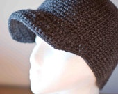 Winter Beanie Cap with Brim for Men Boys Children - Deep Hat for snowboarding and skiing