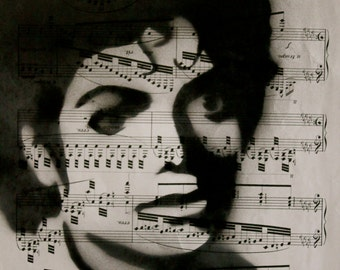 Michael Jackson Sheet Music Painting
