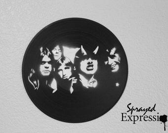 AC/DC Vinyl Record Painting
