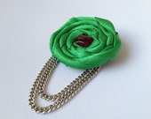 Extravagant green brooch  - FREE SHIPPING