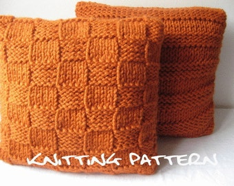 Knitting Pattern - super chunky cushion covers - Listing05
