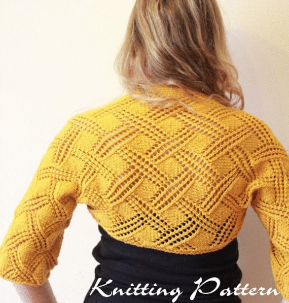 Ladies Shrug Knitting Patterns : Unavailable Listing on Etsy