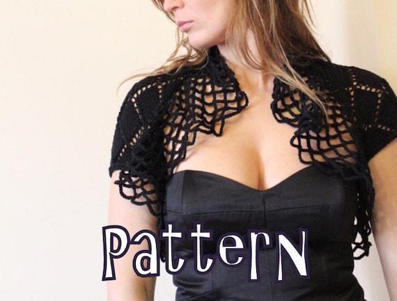 knitting pattern - Black Magic Lace Shrug - Listing21