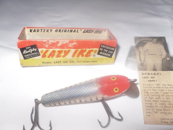 Price reducedvintage wooden fishing lure for Antique fishing lures prices