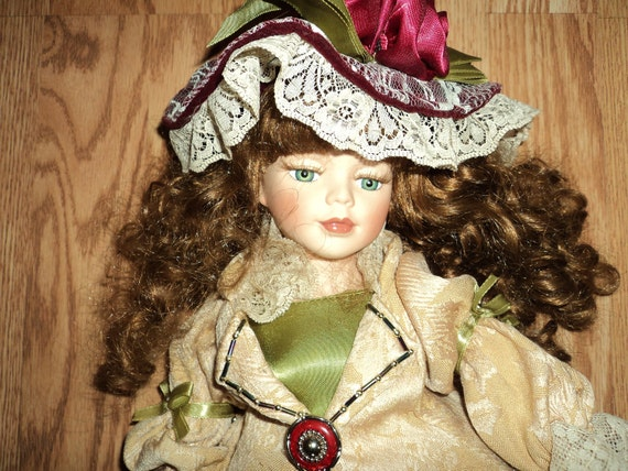 Beautifully dressed Victorian-style collectible doll