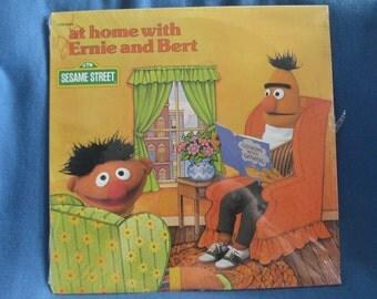 "SEALED, Vintage, ""At Home With  Ernie And Bert"". Vinyl LP, Record Album, Sesame Street, Jim Henson, Frank Oz, Original 1979 New Oldstock"