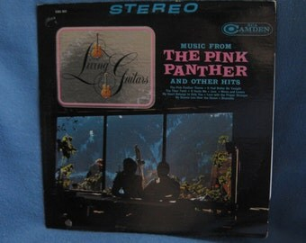 "RARE Vintage, Living Guitars - ""Music From the Pink Panther And Other Hits"", Soundtrack Score Music, Vinyl LP, Record Album"