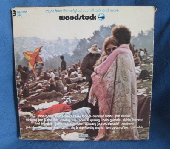 "RARE, Vintage, Woodstock - ""Original Soundtrack"", Vinyl 3LP, Record Album, Original 1970 Press, Jimi Hendrix, Santana, The Who, CSNY,"