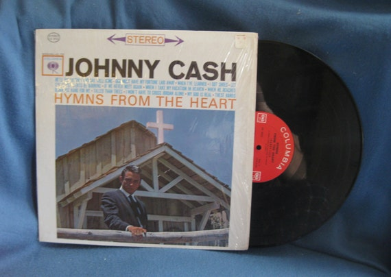"""Vintage Johnny Cash - """"Hymns From The Heart"""", Vinyl LP, Record Album, 1962 Columbia 2-Eye Press, Tennessee Two, Country, Rock"""