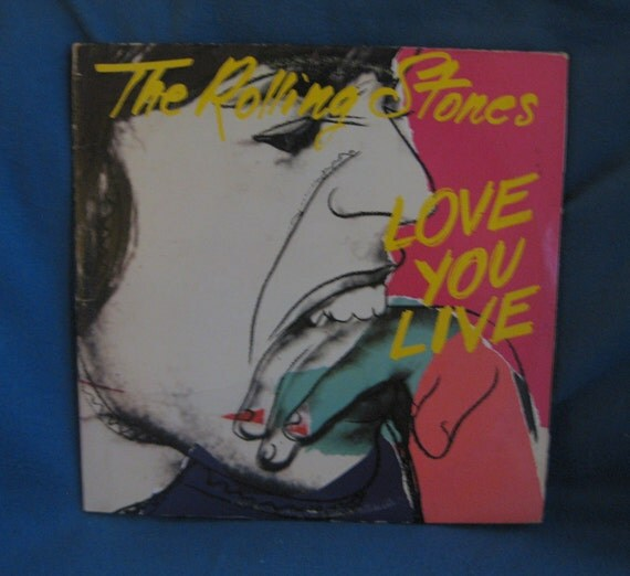 "Vintage, The Rolling Stones - ""Love You Live"", Vinyl 2 LP Set, Record Album, Original 1977,Brown Sugar, Jumping Jack Flash"