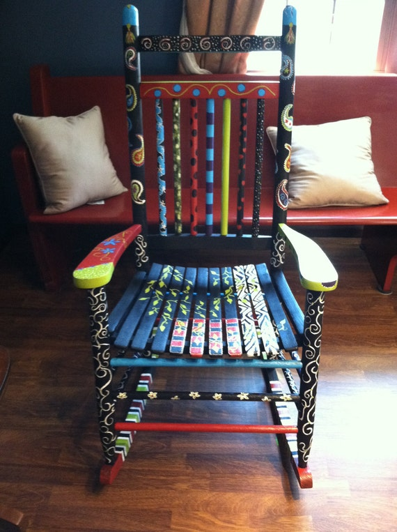 Fun And Funky Rocking Chair By Thefunkyhouseoflydia On Etsy
