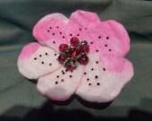 Spring flower brooch