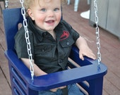 Toddler swing - porch swing - baby swing - childrens furniture - wood swing - outdoor swing
