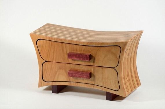 Birch Bandsaw Box ~ Jewelry box bandsaw keepsake end grain