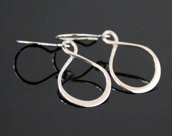 INFINITY Earrings in STERLING SILVER, Teardrop Infinity Silver Earrings, Symbolic Love Friendship.