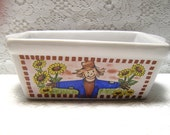 Vintage Ceramic Loaf or Butter Dish