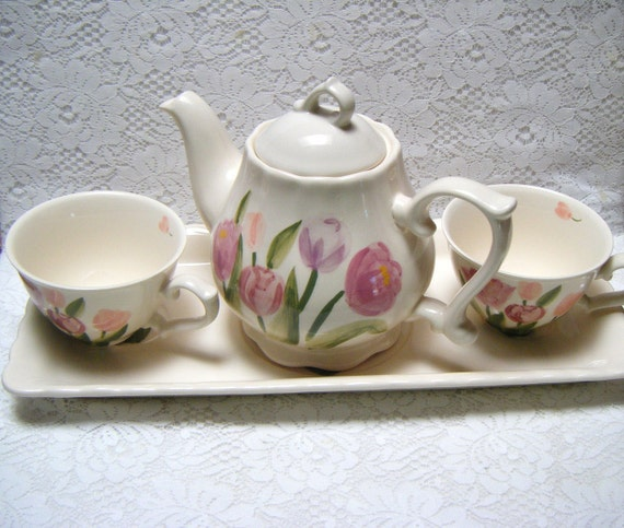 Vintage Homestead Collection TEA SET Hand painted by Herman Dodge & Son