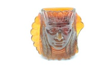 Glass Indian's Head Nutmeg Holder