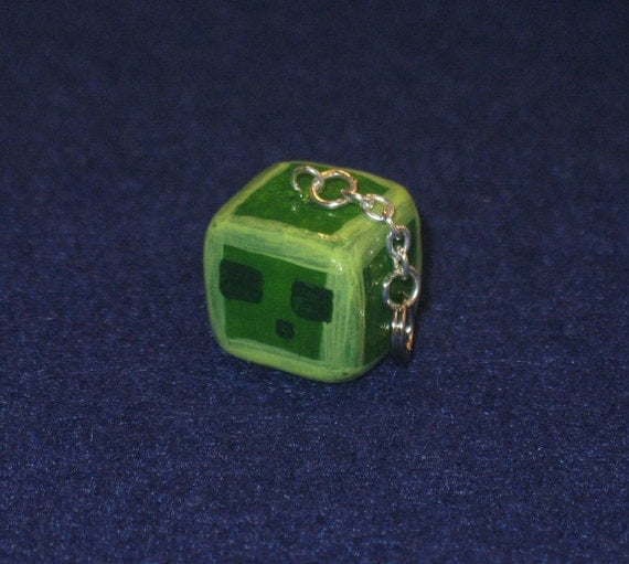 LAST ONE - Minecraft Slime Keychain / Cell Phone Charm