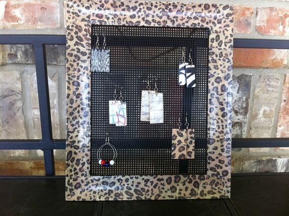 Sassy Cheetah-Framed Earring Display