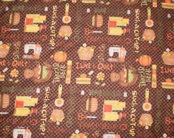 "Fabric Debbie Mumm Quilting new 1/2 yard x 42"" wide 100% cotton flannel"