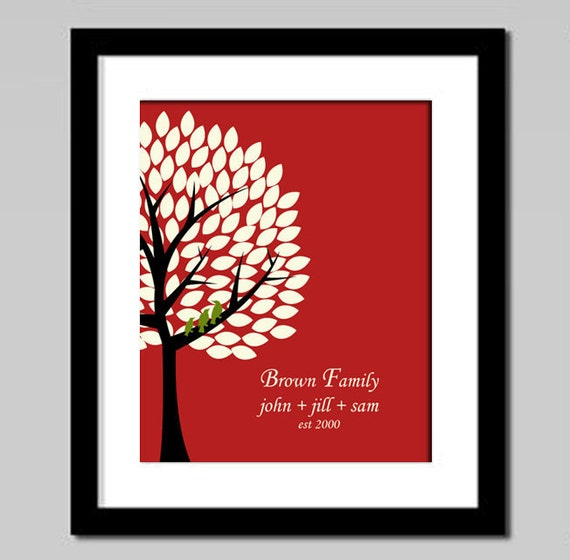 Personalized Family Tree Art Print, Wedding Anniversary Gift, Engagement Couple Gift, Home Wall Decor Poster,Mothers Day Gift, For Mom