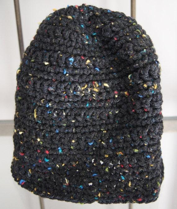 Warm Handmade Black Speckled Skullcap