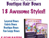 Boutique Hair Bow Instructions: 2 Hour DVD - Learn How to Make Hair Bows