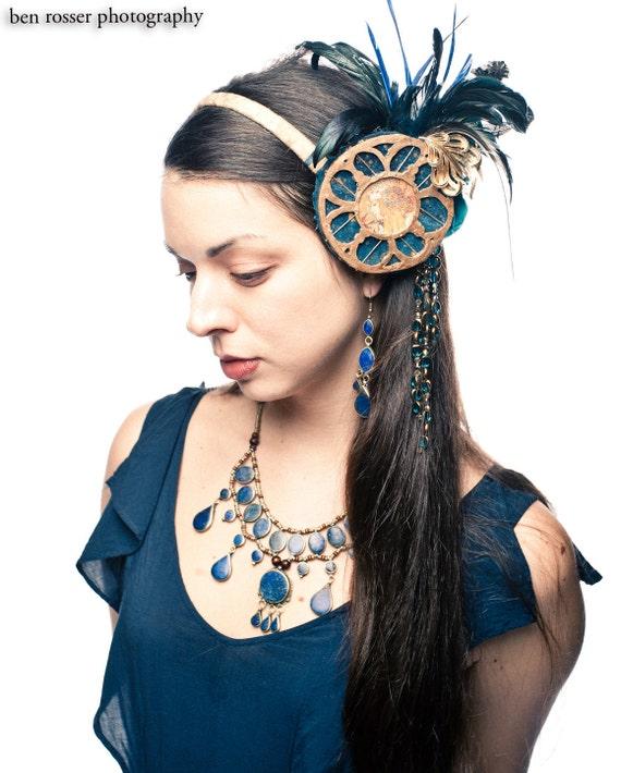 Mucha Medallion Tribal Fusion Bellydance Headdress