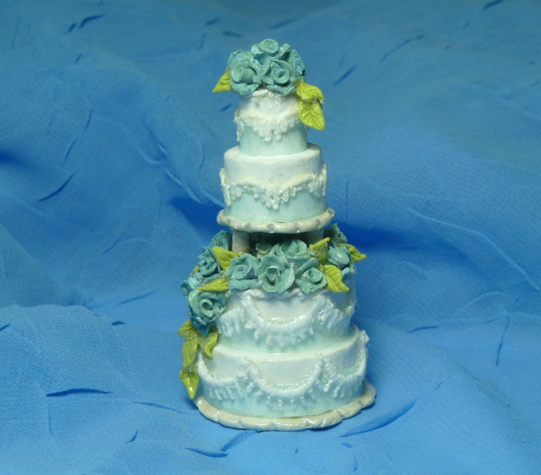 1:12 Scale Dollhouse Miniature Wedding CakeSomething