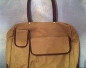 Tan Laptop, Book, and Hand Bag with Elbow Patches