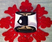 Small Black and White Foldable Collapsible Coin Purse