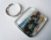 PERSONALIZED Glass Tile Keychain