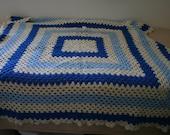 Large blue and cram blanket