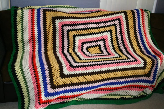 multi color large square blanket