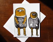 golden monster art card