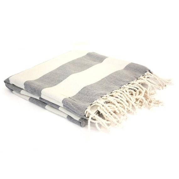Cotton Turkish Towel - Black Stripe