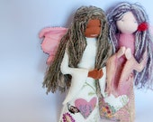 The Angelique Duet, hand made twin angels