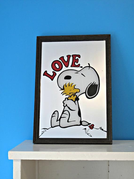 Vintage Snoopy Love Mirror