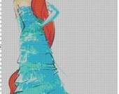 Small Size Disney Designer Princess Doll Ariel (The Little Mermaid) Cross Stitch Pattern PDF (Pattern Only)